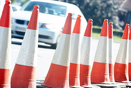 car-with-traffic-cones